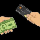 cartão e dinheiro